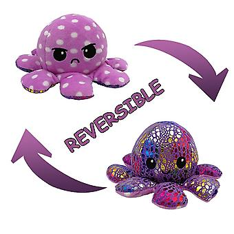 Reversible Flip Octopus Stuffed Plush Doll, Soft Simulation Reversible Toy