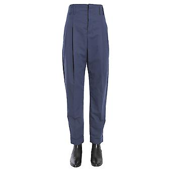 Haider Ackermann 1741414156060 Women's Blue Linen Pants