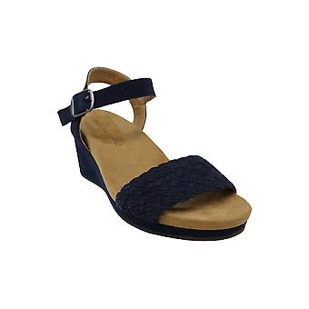 Lucky Brand Womens kenette Fabric Peep Toe Casual Ankle Strap Sandals