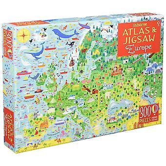 Usborne Atlas And Jigsaw Europe 300 Pieces