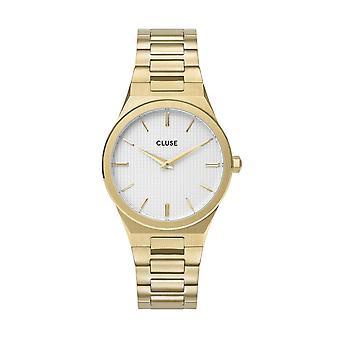 Cluse CW0101210002 Vigoureux White Dial, Gold Tone Wristwatch