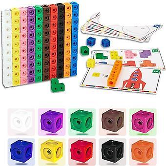 Grafiken Math Link, geometrische Zählwürfel, Snap-Blöcke, Bausatz