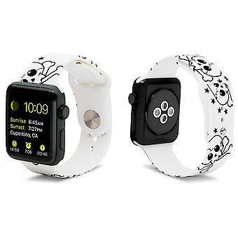 iWatch Siliconen Sportband met Skull 38mm Print