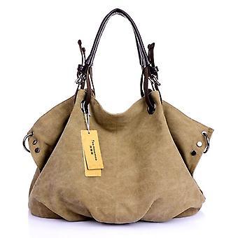 Bolsos de mensajero de lona de las mujeres, bandolera, bolsa de hombro sólido