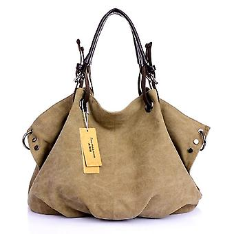 Frauen Canvas Messenger Taschen, Crossbody, solide Schultertasche