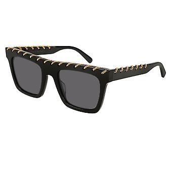 Stella Mccartney Sc0128s 001 51 Falabella Black And Gold Sunglasses