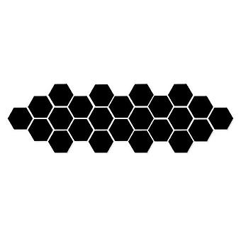 Acrylic Mirror Wall Stickers - Self Adhesive Removable Hexagonal Decorative