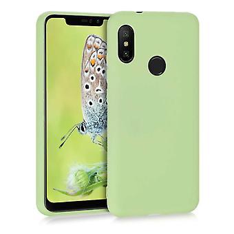 HATOLY Xiaomi Mi 10 Lite Ultraslim silikonfodral TPU mål omslag grön