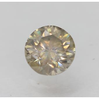 Cert 0.51 Karaat GrijsBruin SI2 Ronde Brilliant Enhanced Natural Diamond 5.06mm