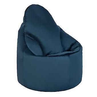 Pacific Blue Velvet Highback Bean Bag Chair Set Indoor Gaming Beanbag Lounger Gamer Seat