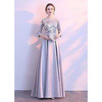 Vestidos fiesta nuevo más tamaño Robe De Soiree vestidos bordados