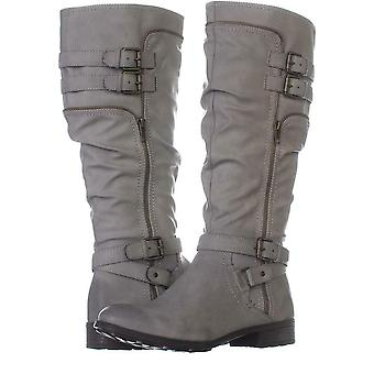 White Mountain Womens Remi Round Toe Knee High Combat Boots