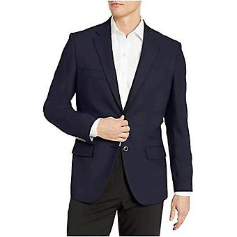 Essentials Men's Long-Sleeve Classic-fit Button-Front Stretch Blazer