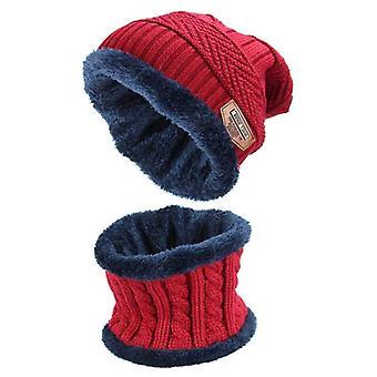 Móda 2ks Šatka Pánske's Cap Set a pletené Teplé Zimné Hat