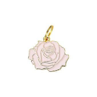 Pet Id Tag - Rose - Pink & Gold