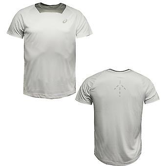 Asics Short Sleeve Athlete Mens Running T-Shirt Sports Top 125154 0001 A19B