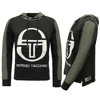 Sergio Tacchini Bild Tröja Mens Track Top Hoodie Svart 37665 177 A52E