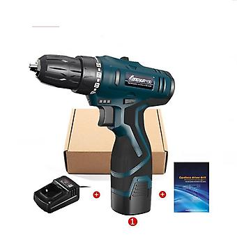 16.8v, Lithium-ion Battery Screwdriver, Electric Drill Hole And Hand Driver,