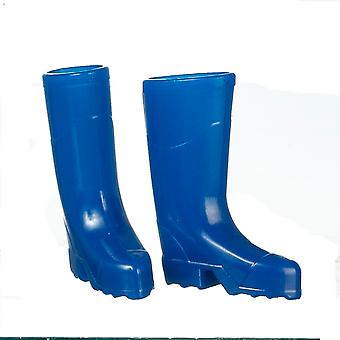 Dolls House Blue Wellington Boots Wellies 1:12 Tuinaccessoire