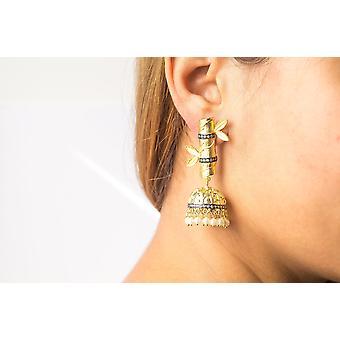 Bamboo Jumki Earrings