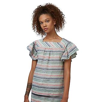 Louche Womens Raymonde Striped Frill Sleeve Top Multi