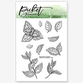 Picket Fence Studios Leaves for Flowers 3x4 Inch Clear Stamps