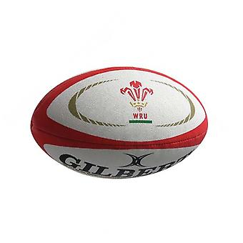 Gilbert Wales Supporter Rugby Union Team Rugby Ball White/Red - Mini