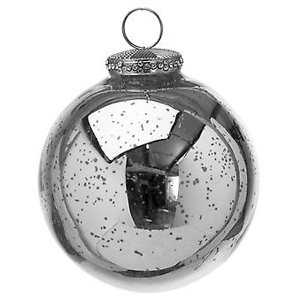 The Noel Collection Glass Mirrored Christmas Bauble