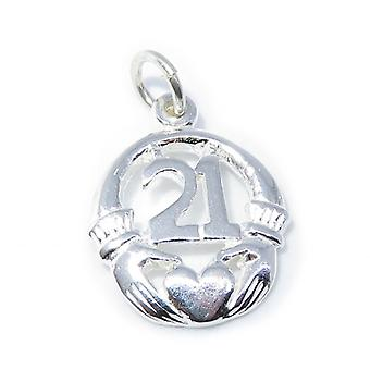 21 urodziny Claddagh Sterling Silver Charm .925 X 1 Urodziny Charms - 8219