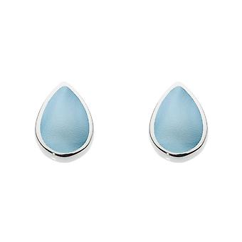 Dew Silver Pear Shape Blue Mother Of Pearl Stud Boucles d'oreilles 3061BMP016
