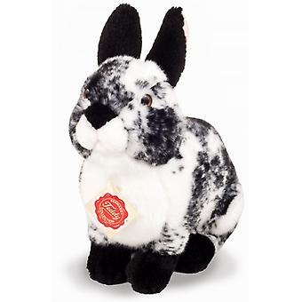 Hermann Teddy Cuddly Hare Sitting Black and White 22 cm