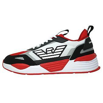 Emporio Armani Eagle Logo Mesh Siyah Kırmızı Spor Ayakkabı