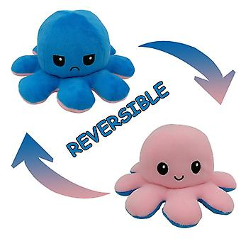 Peluche ripieno inverso, Poulpe Soft Double Sided Flip, Emotion Doll