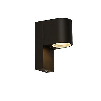 Searchlight 1Lt luz exterior ligera con atardecer hasta el amanecer sensor, negro