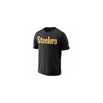 Nike Nfl Pittsburgh Steelers Wordmark Black Dri-fit T-shirt