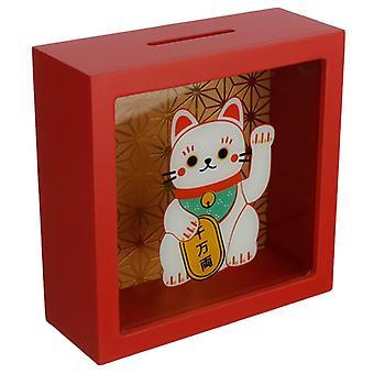 Voir votre boîte d'argent d'épargne - maneki neko chat chanceux