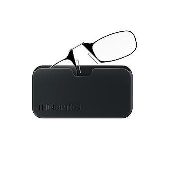 Occhiali da lettura thinoptics 1,5 cornici nere e custodia compatta universale - lettura compatta pieghevole gl