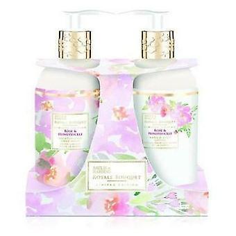 Baylis & Harding Royale Bouquet Rose et Chèvrefeuille set de 2 bouteilles 300 ml