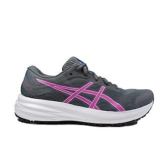 Asics Patriot 12 Grey/Grape Mesh Womens Lace Up Running Trainers