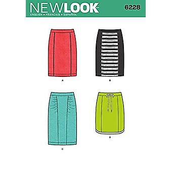 New Look Sewing Pattern 6228 Misses Skirt Size 4-16 E 30-42