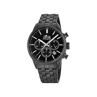 Lotus Herren Uhren L18668-1 - Schwarzes Stahlarmband