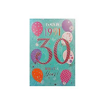 ICG Ltd 2021 Female 30 Year You Were Born Birthday Card