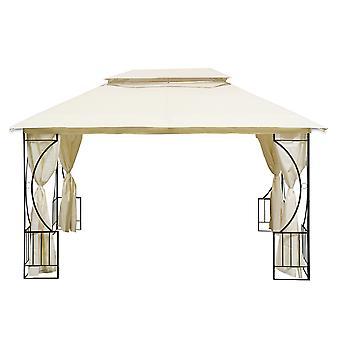 Partytent 300x400 cm beige – Rechthoekig Tuinpaviljoen