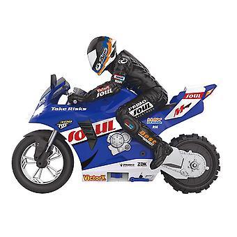 1: 6 RC afstandsbediening auto's motorfiets zelf gebalanceerde stunt speelgoed kind elektrisch voor jongen gift (blauw)