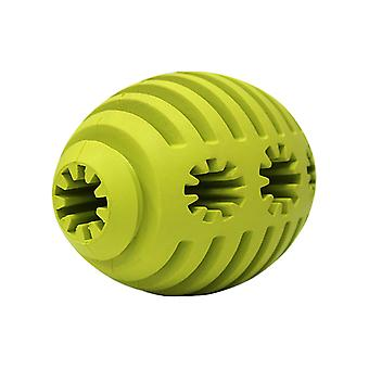Pet Toys, Rubber Rugby Ball, Teething, Bite-resistant And Cleansing Dog Toys, Feeding