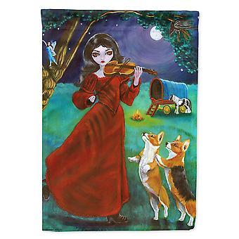 Les trésors de Caroline 7376Gf Fairy Moon Dance avec corgi Garden Flag, petit, multicolore