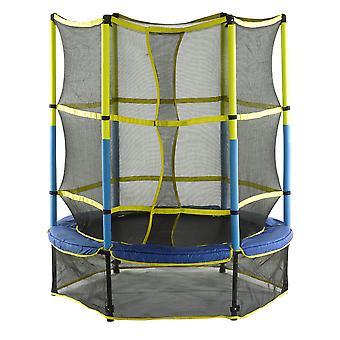 """55"""" 140cm Baby Kids Junior Trampoline & Enclosure Safety Net for Outdoor, Garden"""