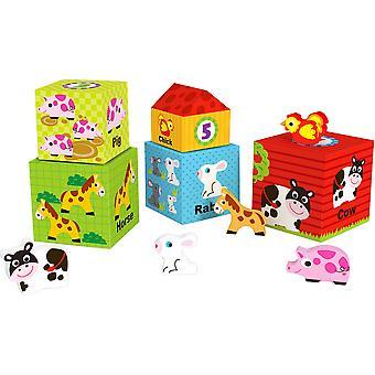 Nesting Farm Box Wooden Activity Toy