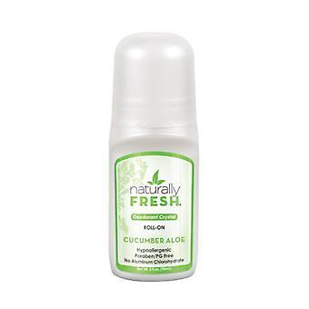 Naturally Fresh Deodorant Crystal Roll On, Cucumber Aloe 3 oz