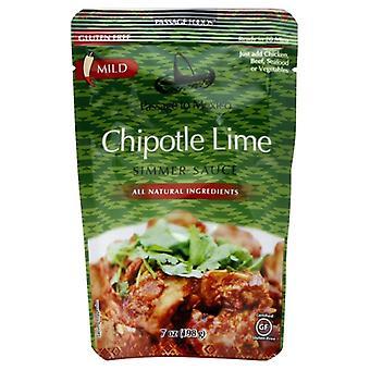 Passage Foods Sauce Smmr Chptl Lime Mex, tilfælde af 6 X 7 Oz